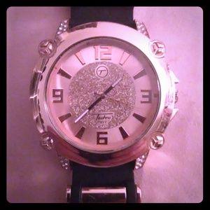 Tecno pave wrist watch.